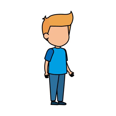cute little boy character vector illustration design