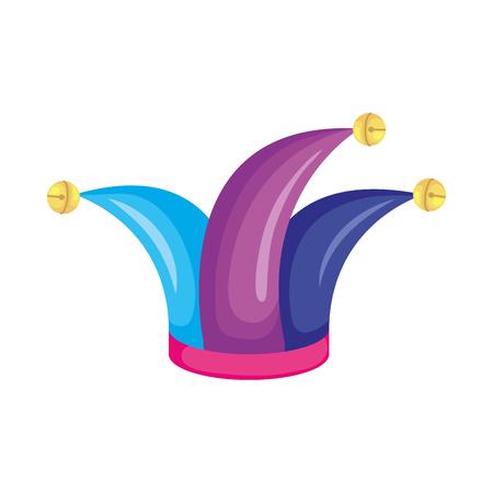 joker hat accessory icon vector illustration design