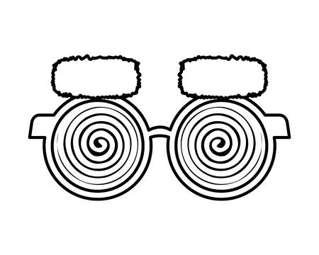 fools day accessories icons vector illustration design Illustration