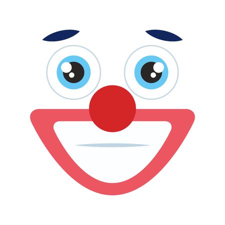clown emoticon face icon vector illustration design 向量圖像