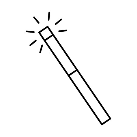 magic wand isolated icon vector illustration design Vektorové ilustrace