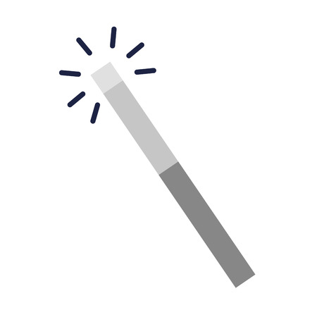 magic wand isolated icon vector illustration design