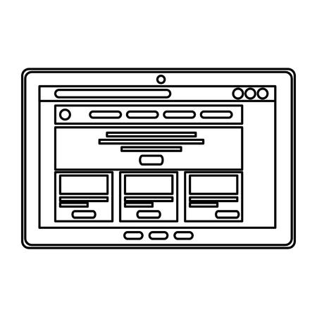 tablet device isolated icon vector illustration design Illusztráció