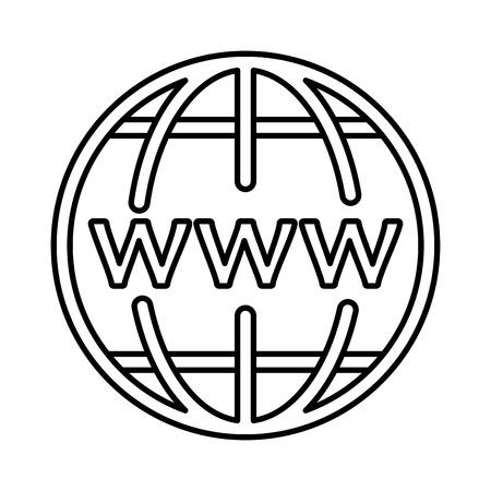 sphere planet browser icon vector illustration design