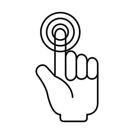 hand mouse cursor icon vector illustration design