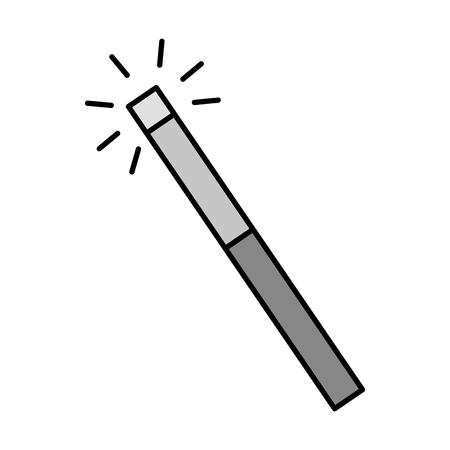 magic wand isolated icon vector illustration design