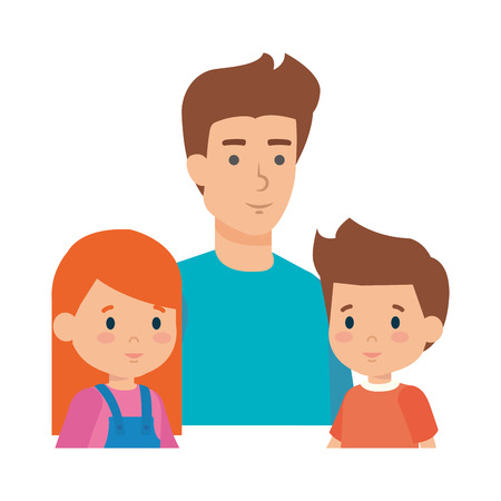 father with son and daughter characters vector illustration design Stock Vector - 116694204