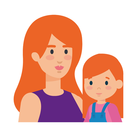 mother with daughter characters vector illustration design Standard-Bild - 125303169
