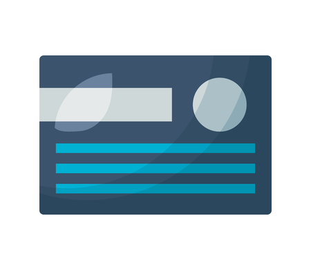 bank credit card on white background vector illustration 일러스트