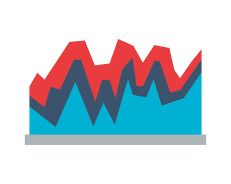 business report chart on white background vector illustration