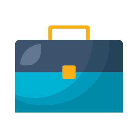 Portefeuille de valise d'affaires sur fond blanc vector illustration