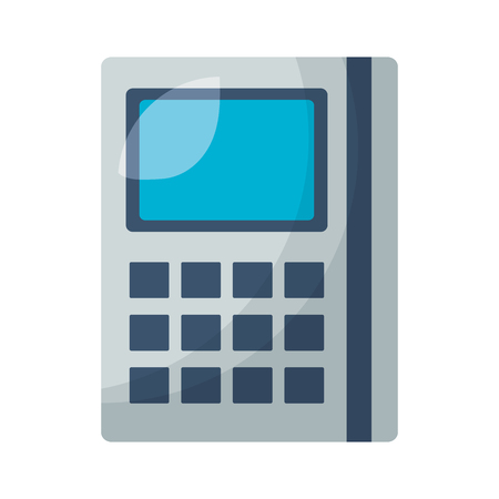 financial calculator math on white background vector illustration