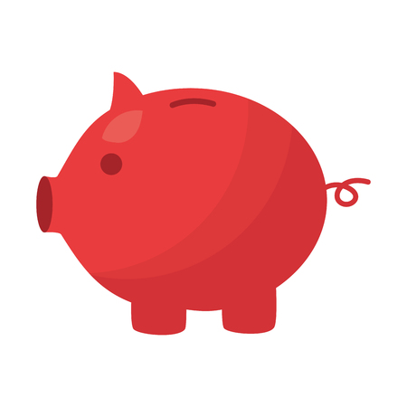 piggy bank save on white background vector illustration