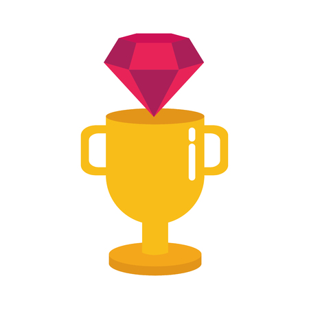 diamond trophy winner video game vector illustration Ilustração