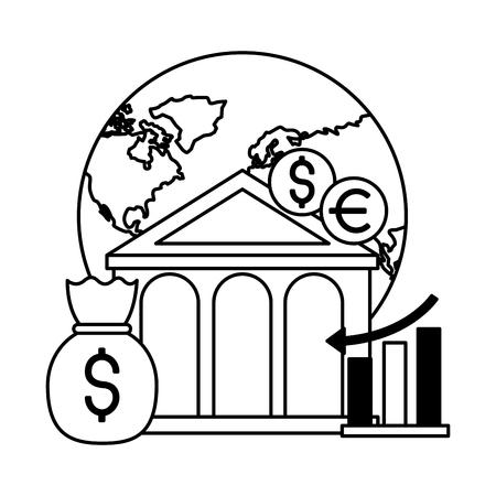 world bank money report chart stock market vector illustration Illustration