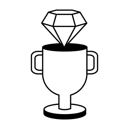 diamond trophy winner video game vector illustration Illustration