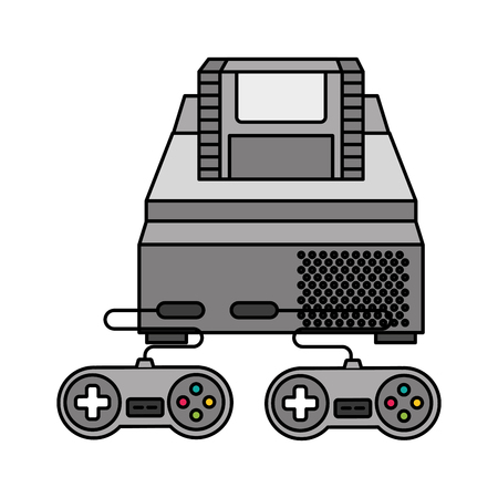 console and controls video game vector illustration