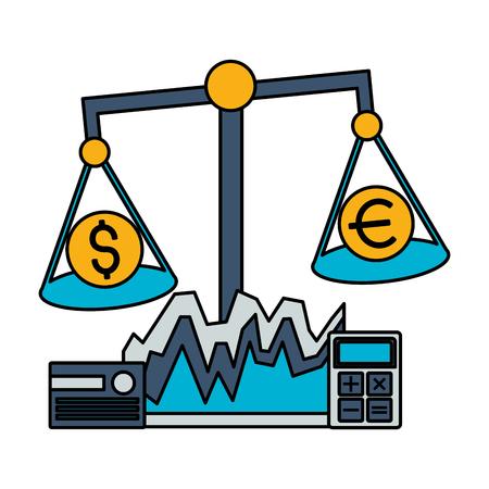 balance money bank card stock market vector illustration Foto de archivo - 125286070