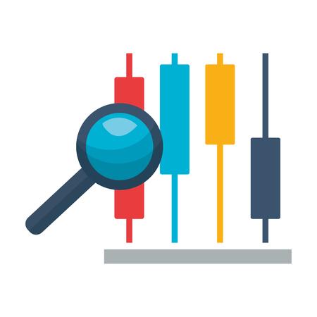 chart report analysis stock market vector illustration