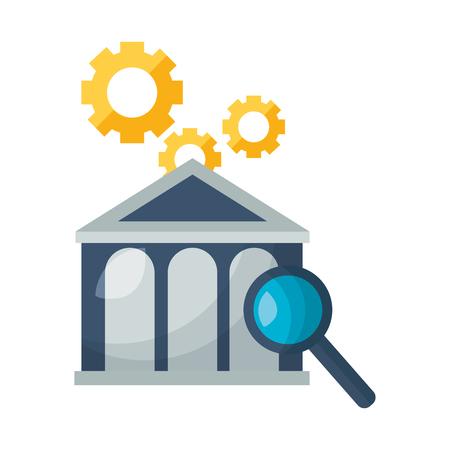 bank stock market analysis commerce vector illustration