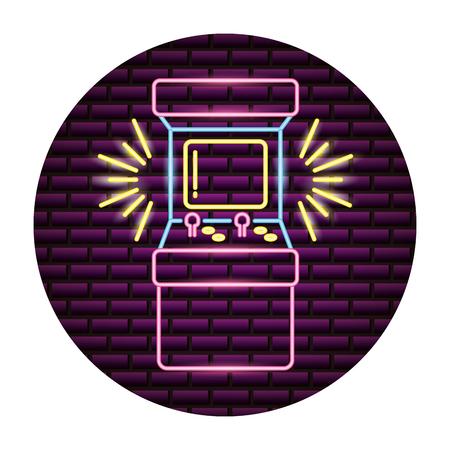 arcade machine control video game neon vector illustration Reklamní fotografie - 116852790