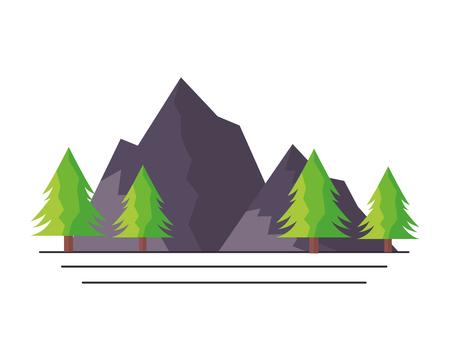 mountains tree pine nature landscape vector illustration 版權商用圖片 - 125286215