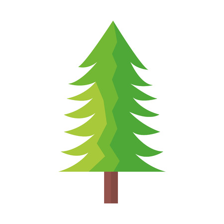 tree pine forest on white background vector illustration  イラスト・ベクター素材