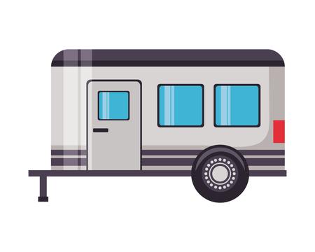 camper trailer transport on white background vector illustration Vektorgrafik