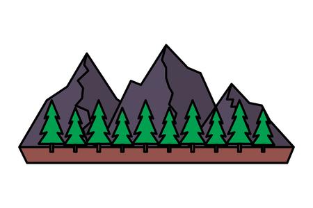 mountains tree pine nature landscape vector illustration 版權商用圖片 - 116852817
