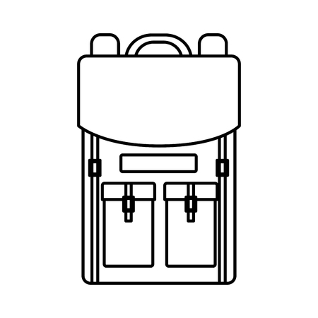 travel backpack equipment on white background vector illustration