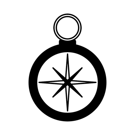 compass navigation travel on white background vector illustration