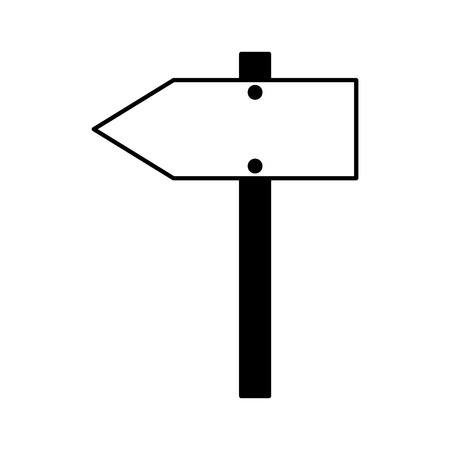 wooden arrow signal on white background vector illustration