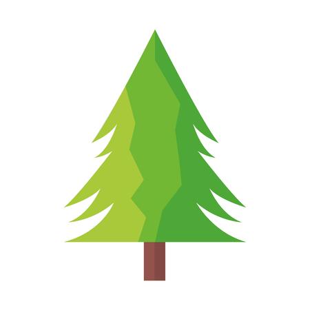 tree pine forest on white background vector illustration Standard-Bild - 125288173