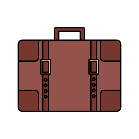 travel suitcase vintage on white background vector illustration