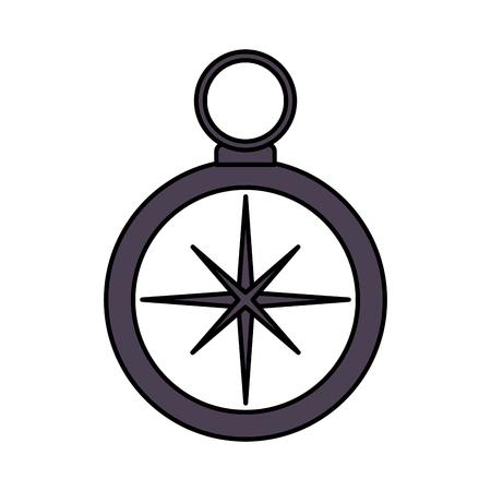compass navigation travel on white background vector illustration