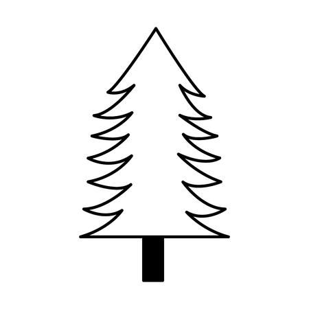 tree pine forest on white background vector illustration Illustration