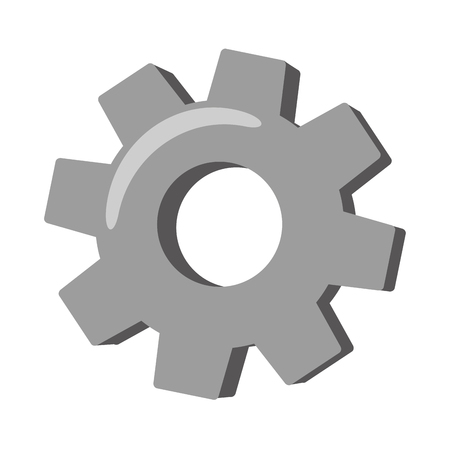 gear wheel cog on white background vector illustration