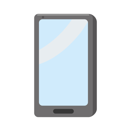 smartphone device technology on white background vector illustration
