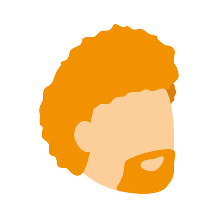 man face profile on white background vector illustration Illustration