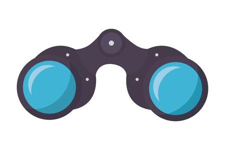 binoculars vision tool on white backgorund vector illustration