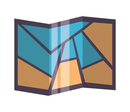 navigation map paper on white background vector illustration Illustration