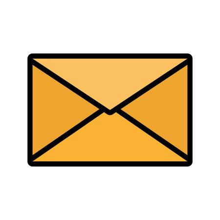 mail envelope message on white background vector illustration