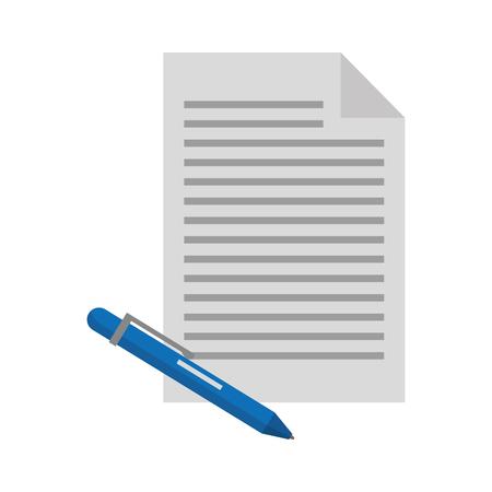 document papier et stylo fournitures vector illustration Vecteurs