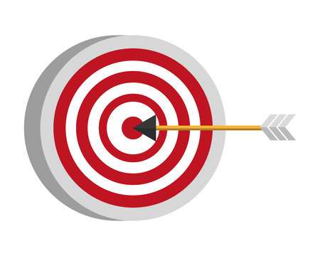 target arrow strategy on white background vector illustration Stock fotó - 116853155