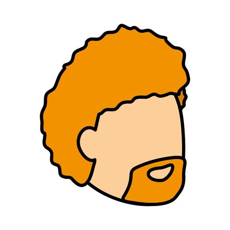 man face profile on white background vector illustration Illustration