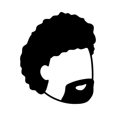 man face profile on white background vector illustration Stock Vector - 116853160