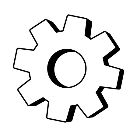 gear wheel cog on white background vector illustration