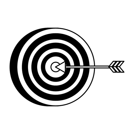 target arrow strategy on white background vector illustration Stock Vector - 116853176