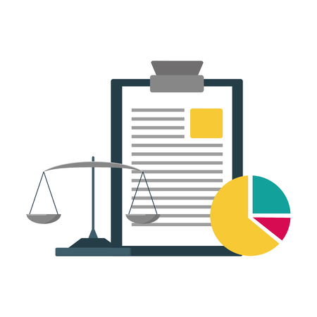 report financial chart and balance vector illustration
