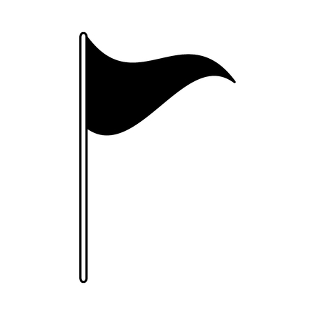 flag marker on white background vector illustration Ilustração